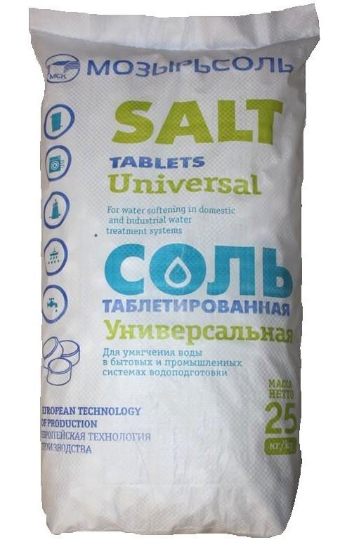 МОЗЫРЬСОЛЬ Соль таблетированная 25 кг. (Белоруссия)