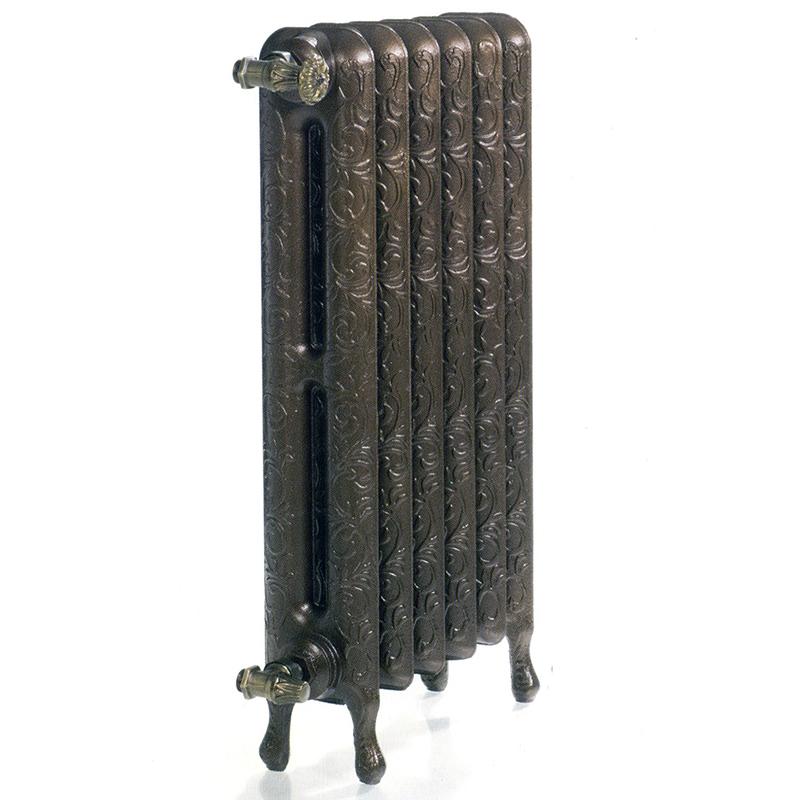 GURATEC Jupiter 760/6 чугунный дизайн-радиатор в стиле ретро Guratec цвет матовый серый